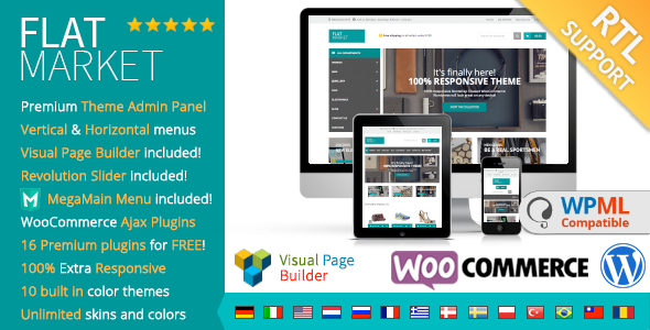 FlatMarket Multi-Purpose WooCommerce theme RTL
